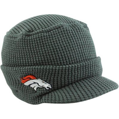New Era Denver Broncos Ladies Snow Sergeant Knit Visor Hat - Gray