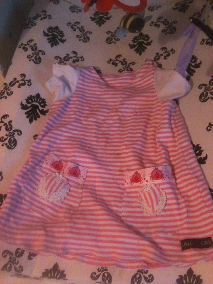Klänning med pumpor storlek 74 Dress with pumpkins size 1T