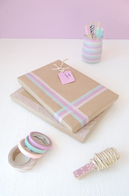 Washi Tape Gift wrapping / Envolturas Wrapping Ideas / Washi Tape Packaging