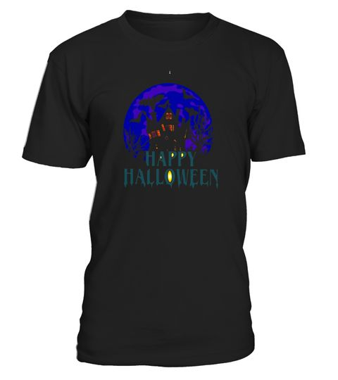 """# Haunted house Happy Halloween T-shirt .  Special Offer, not available in shops      Comes in a variety of styles and colours      Buy yours now before it is too late!      Secured payment via Visa / Mastercard / Amex / PayPal      How to place an order            Choose the model from the drop-down menu      Click on """"Buy it now""""      Choose the size and the quantity      Add your delivery address and bank details      And that's it!      Tags: nightmare, mystery, evil, scary, night…"""