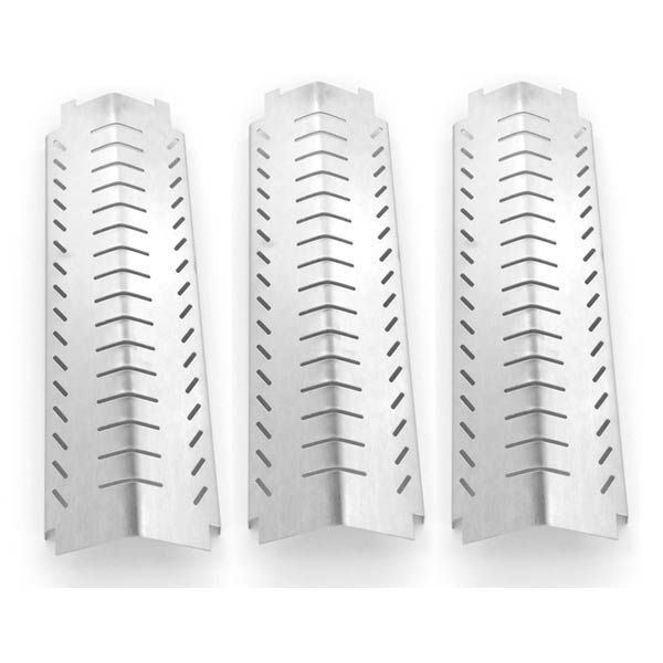 3 PACK STAINLESS STEEL HEAT SHIELD FOR CHARBROIL 463240804, 463241804, 463247004, 463243904, & KIRKLAND 463230703, FRONT AVENUE GAS MODELS Fits Compatible Centro Models : 4000AS , 85-1095-6 (2003) , 85-1198-2 (2003) , 85-1210-2 , 85-1250-6 , 85-1250-6 (2004) , g40200 , G40202 , G40204 , G40205