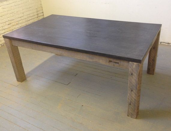 Table manger bois b ton dalle b ton tables manger - Table a manger beton ...