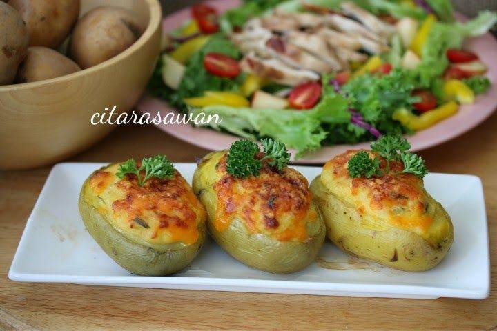 Recipes today - Kentang Keju Panggang / Baked Cheese Patato