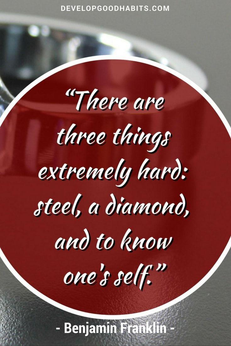 Benjamin Franklin self knowledge quote
