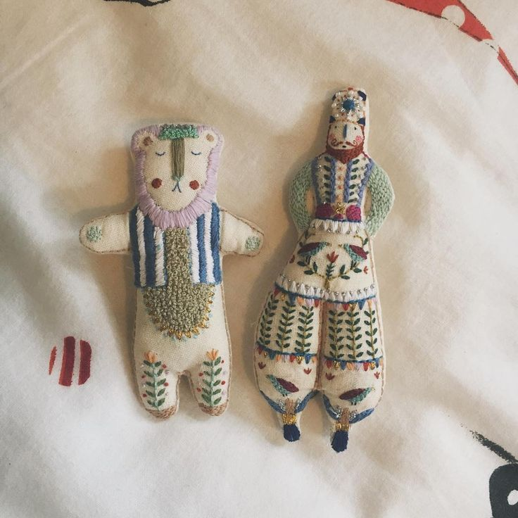 Megan Griffiths embroidered dolls { worry dolls }