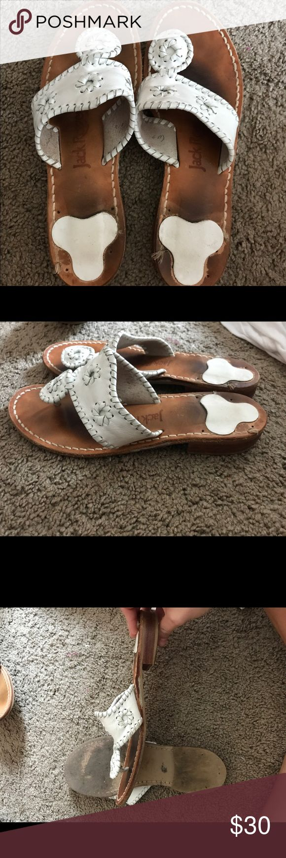 White Jack Rogers sandals White Jack Rogers Jack Rogers Shoes Sandals