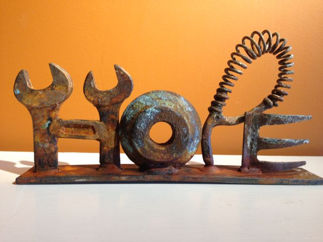 Hope -  Scrap Metal Art  Briget Mayfield