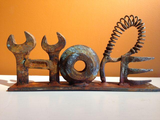Hope -  Scrap Metal Art  Briget Mayfield