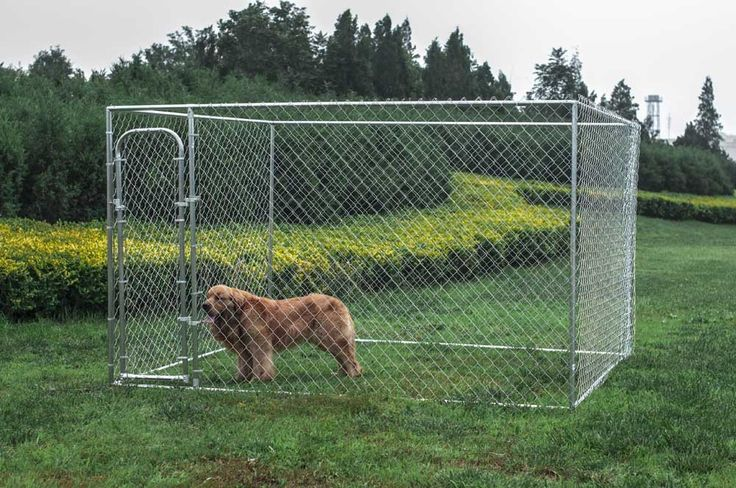 ALEKO Dog Kennel 10' x 10' x 6' DIY Box Kennel Chain Link Dog Pet System Run for Chicken Coop Hens House ** Hurry! Check out this great product : Products for dogs