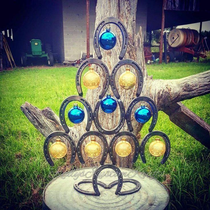 Christmas Tree, Rustic Christmas Tree, Horseshoe Christmas Tree, Country Christmas, #Thankyou10 #couponcode