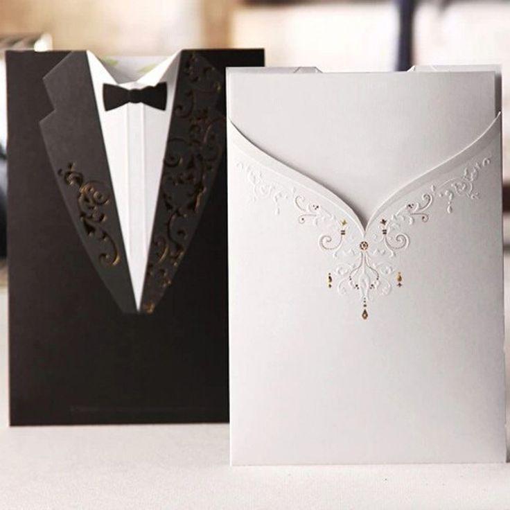Купить 20 шт. элегантный жених и невеста свадебные приглашения лазер вырезать бланк внутри с конвертоми другие товары категории События и праздничные атрибутыв магазине Princess&DiaryнаAliExpress. приглашения хэллоуин и карточки для свадебных приглашений