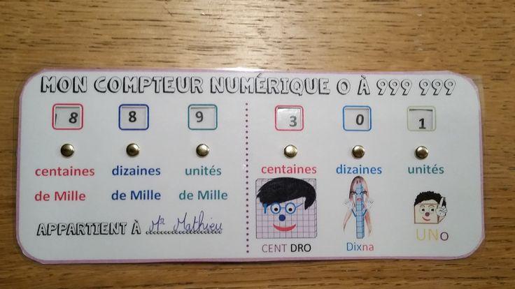Compteur numérique CE1 CE2 et idées de jeux. | BLOG GS CP CE1 CE2 de Monsieur Mathieu JEUX et RESSOURCES