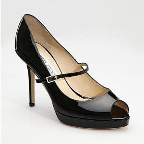 Jimmy Choo Amina Patent Leather Pumps Black