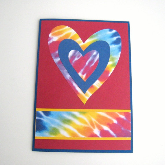 12 best tie dye cards images on pinterest