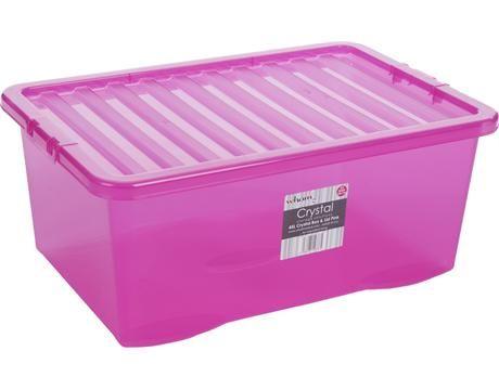 Velký obrázek - Úložný box Wham 12337 s víkem 45l, růžový