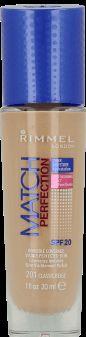 Rimmel, Match Perfection, podkład do twarzy, SPF 20, nr 200 soft beige, 30 ml, nr.kat. 219296 - Internetowa drogeria Rossmann - Zakupy online