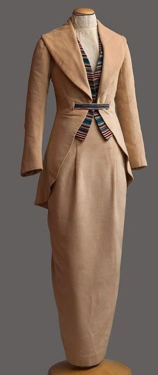 1910, but I would wear this today. The jacket/waistcoat combo would be great with a pencil skirt
