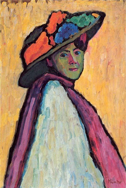 Gabriele Munter .   ..... Portrait of   MARIANNE VON WEREFKIN.... 1909.....  . 9/10/1860--2/6/1938. Russian