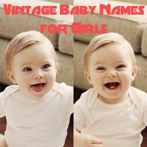 Vintage Baby Names for Girls #parents #pregnancy #parenting