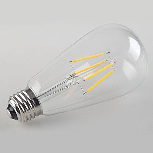 Vintage Edison LED Bulb, CMYK Dimmable 4W ST64 Antique LED Bulb Squirrel Cage Filament Light For Decorate Home, E26, 2200K, Warm White - - Amazon.com
