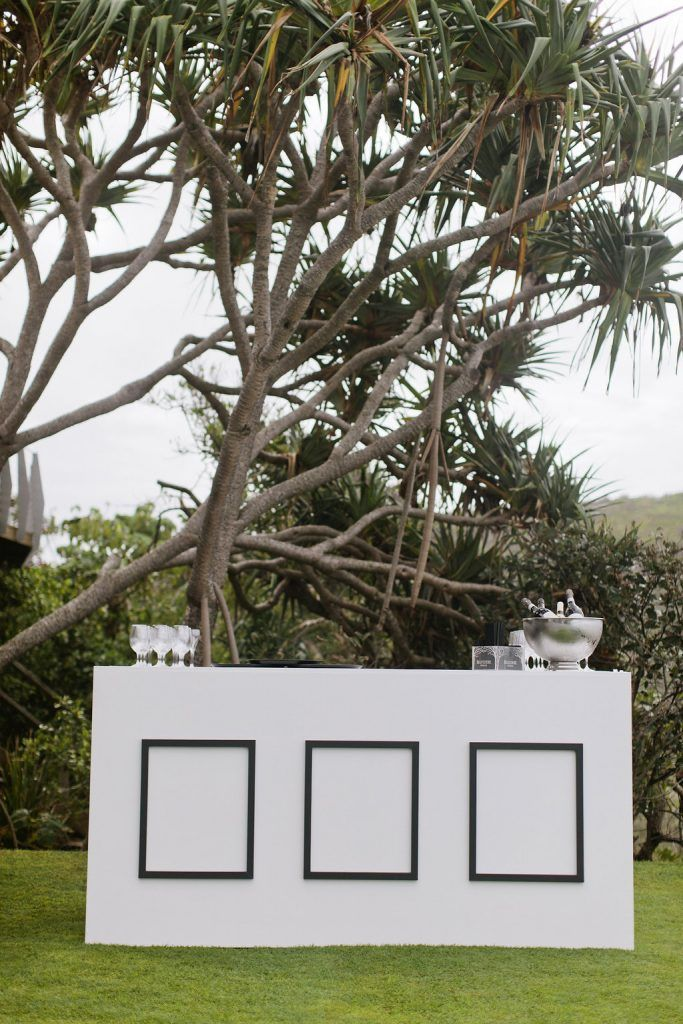 White Deco Bar - Lovebird Weddings, Noosa Australia