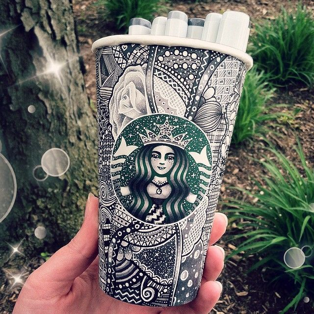 This artist is making Starbucks cups shine and sparkle in new and exciting ways.