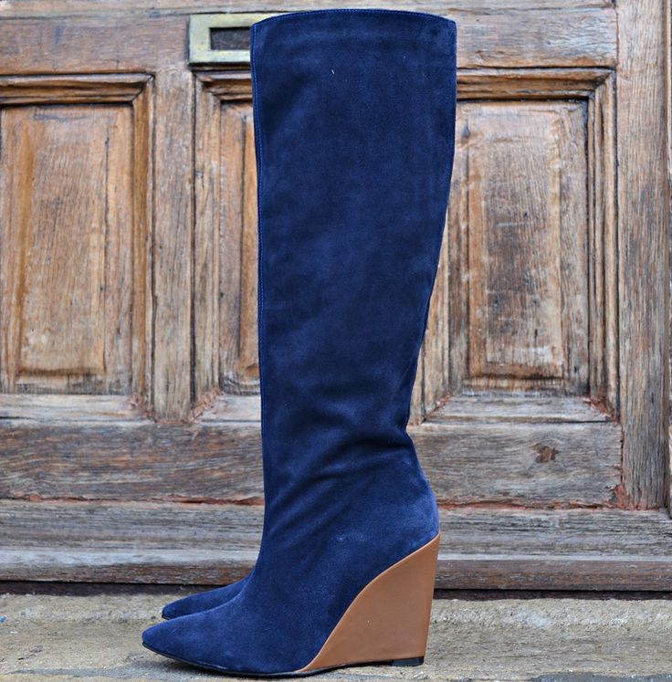 #long #tall #light #blue #leather #boots #the5thelementshoes #rosettishowroom