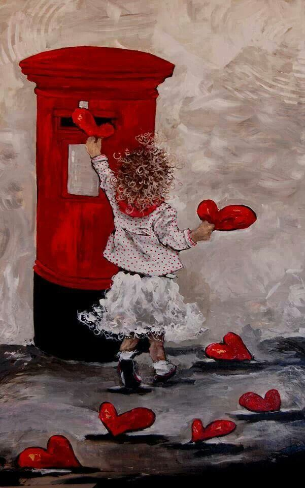 Mailing Valentine Hearts