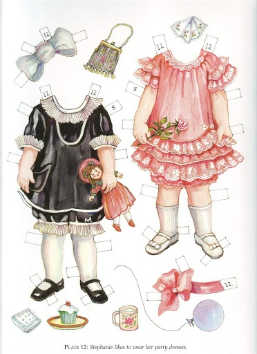 Twin Tots of the Twenties Paper Dolls by Evelyn Gathings  - Dover Publishing Inc., 2000: Plate 12 (of 16)