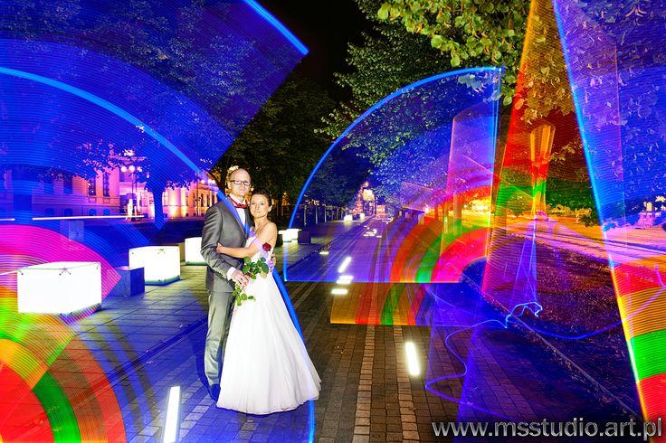 light painting wedding photos