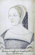 Jacquette de Lansac, dame de Lansac (1490-1532) mère de Louis de St-Gelais..-Louis fils naturel de François I°, demi frère du roi Henri II. François d'Angoulême avait 18 ans lorsqu'il succomba aux charmes de Jacquette de Lansac, (épouse d'Alexandre de St-Gelais) et en eut un fils, Louis, qui porta le nom de son mari  St Gelais de Lansac. Lorsqu'en 1522, Alexandre mourut, François I° nomma aussitôt son fils Louis, qui n'avait que 9 ans, comme garde de sceau de la Chancellerie de Bordeaux.