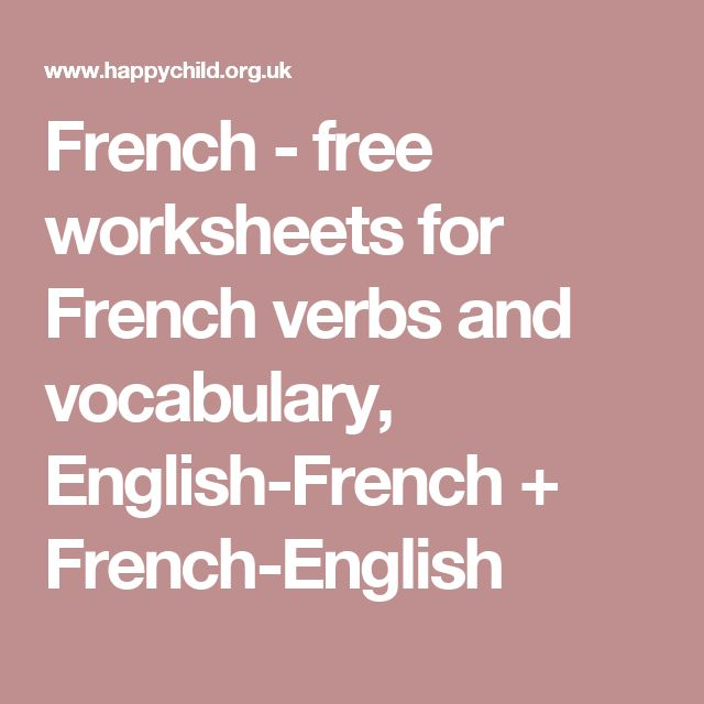 25 best ideas about french verbs on pinterest french