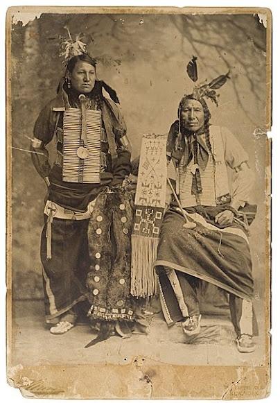 Iron Hawk (aka Amos Little), Chase Close To Lodge (aka Charles) - Oglala - 1900