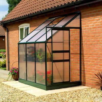 Gardman 6ft x 4ft Traditional Aluminium Frame Lean-To Greenhouse