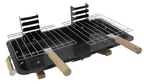 Benross GardenKraft 19710 Double Hibachi BBQ Grill with Ash Pan
