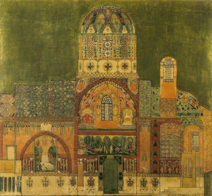 Józef Mehoffer,Decoration design for Armenian Cathedral in Lviv,1907.