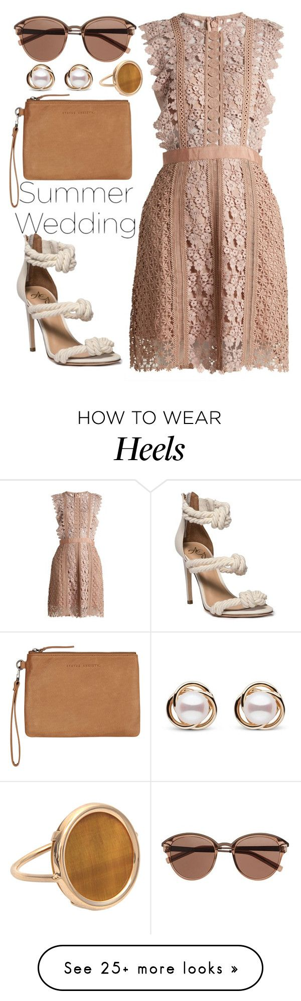 """Say I Do: Summer Weddings"" by joslynaurora on Polyvore featuring self-portrait, Status Anxiety, Witchery, Trilogy, Ginette NY and summerwedding"