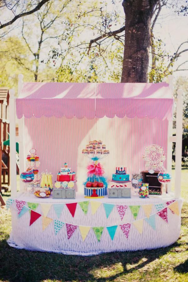 Carnival themed birthday party for boys / girls with tons of ideas! Via KarasPartyIDeas.com - The place for all things party!