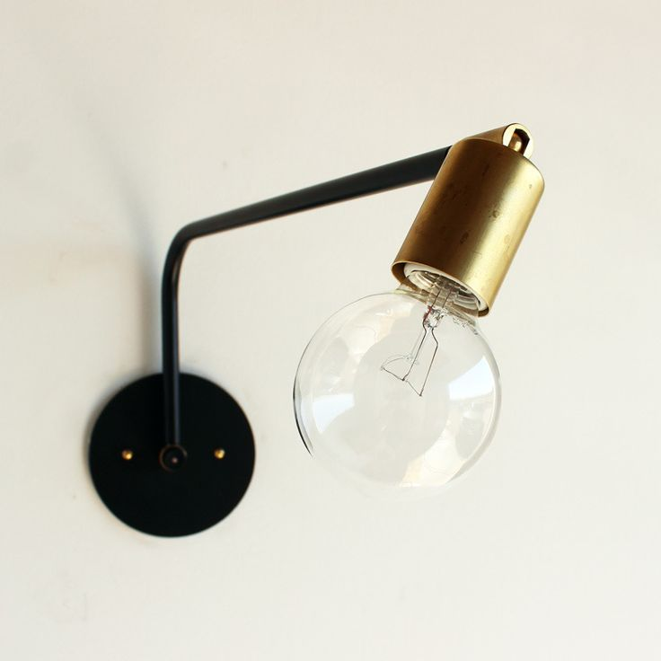 Hardwired swing arm lamp from Oneforthythree