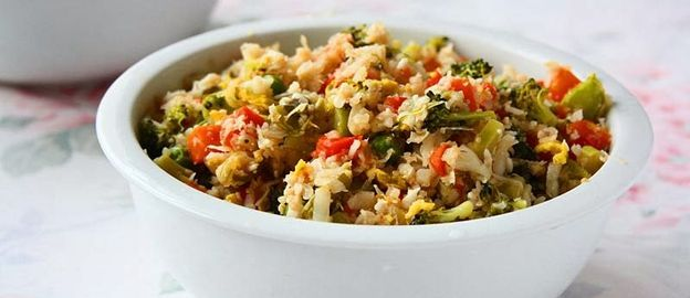 Gebakken rijst van bloemkool met balsamicosaus ♥ Foodness - good food, top products, great health