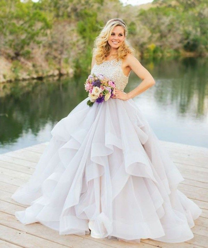 aeb66ec5c25 30+Beautiful Pastel Wedding Gowns Design Ideas