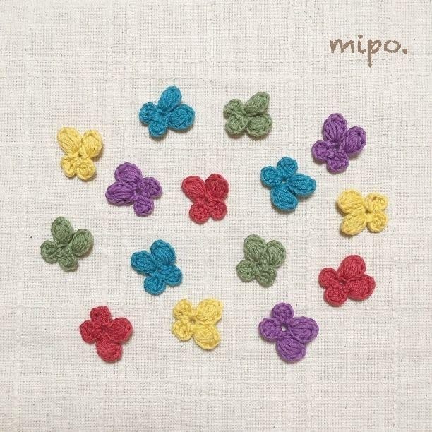【5色15個セット】可愛い小花モチーフ秋冬カラー画像1