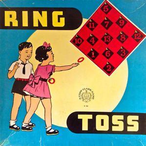 Antiquité 1930. Collection. Jeu Ring Toss. Copp Clark Game