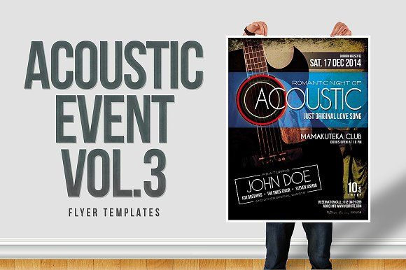 Acoustic Event Flyer Templates Vol.3 by shelby67 on @creativemarket