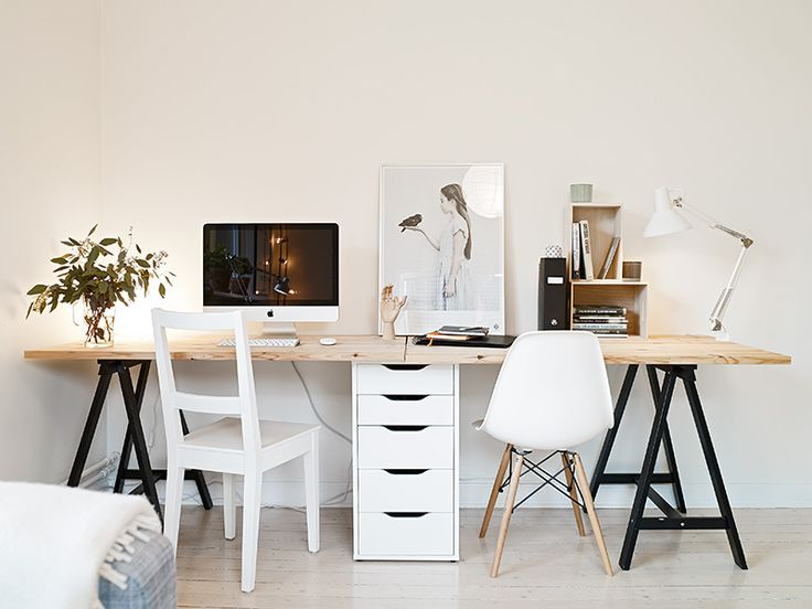 25 best two person desk ideas on pinterest 2 person desk home office desk - Style scandinave ikea ...