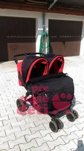 Univerzálny zateplený nánožník  duo EXCLUSIVE PLUS na športové kočíky pre dvojičky od kvalitného českého  výrobcu detských fusakov Ivemababy