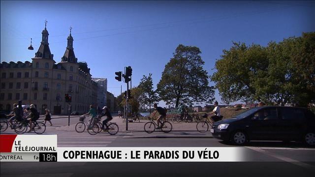 La capitale du Danemark est depuis cette année la meilleure ville cyclable du monde devant Amsterdam, selon le palmarès de Copenhagenize Design. Jean-Sébastien Cloutier est allé voir ce paradis du vélo. Bienvenue à Copenhague.