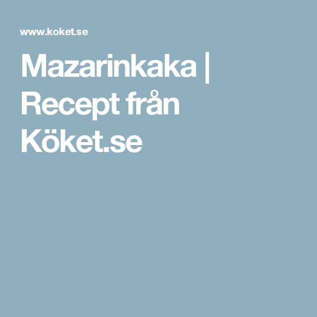 Mazarinkaka | Recept från Köket.se