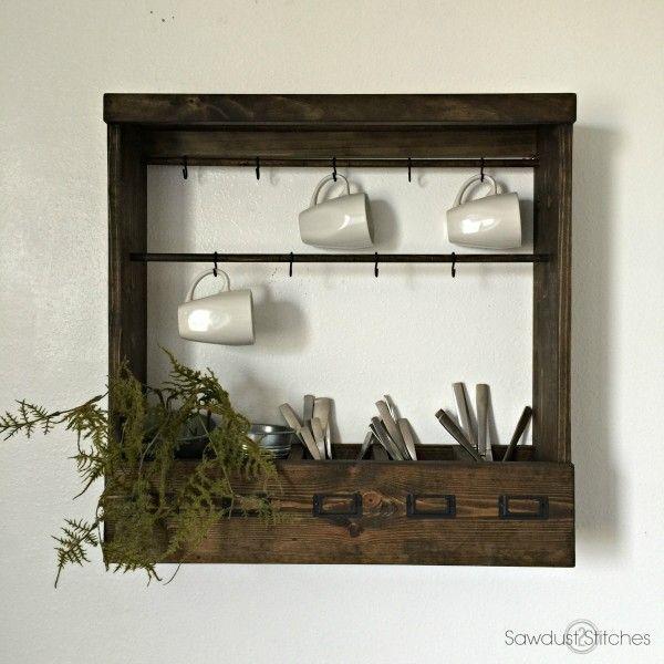 Pottery Barn Inspired Mug Rack (Modular) - Sawdust 2 Stitches