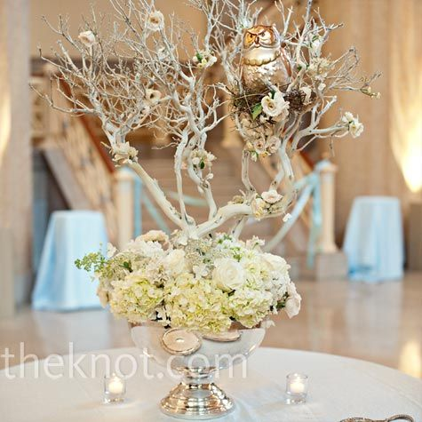 owl wedding decorations best 25 white branch centerpiece ideas on 6355
